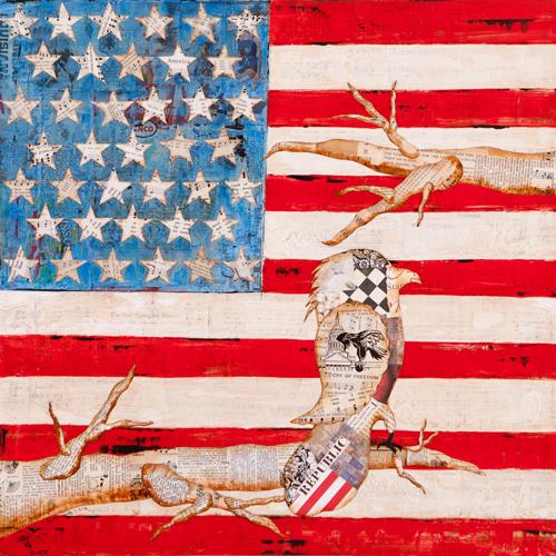 Hardy Linda 24x24 x1.5 American Flag